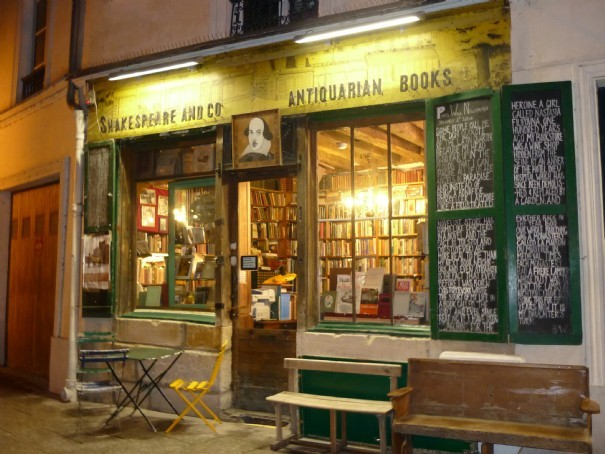 Doux repos à la librairie Shakespeare and co